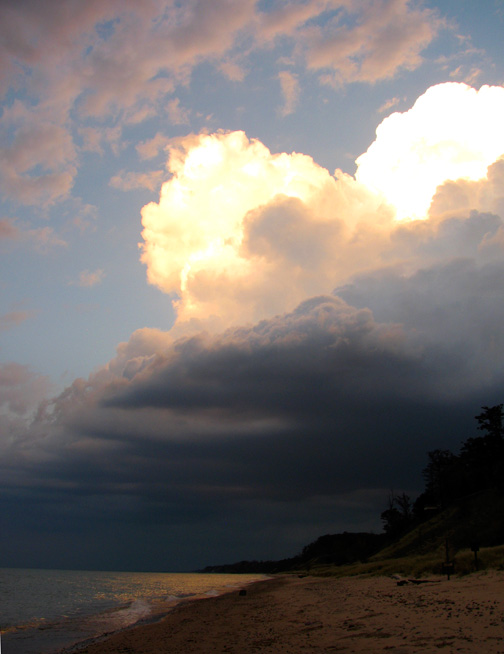 Thunderhead over Lake Michigan